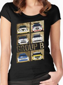Group B Women's Fitted Scoop T-Shirt