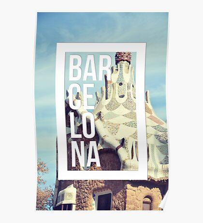 Barcelona Gaudi Work Modernism Park Güell Poster