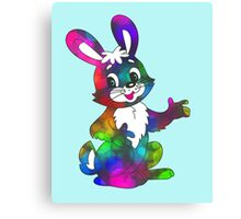 psychedelic easter bunny Canvas Print
