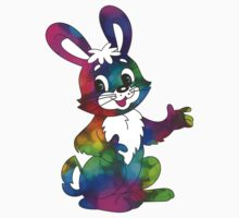 psychedelic easter bunny One Piece - Short Sleeve