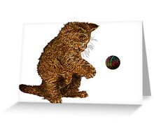 gold kitty cat Greeting Card