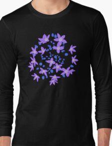 Purple Flowers Explosion Long Sleeve T-Shirt
