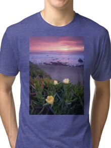 Blooming Ice Plants. Tri-blend T-Shirt