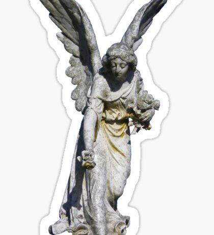Angel Giving Flowers Sticker Sticker