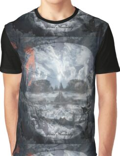 SCARY SKULL IN THE CLOUDS Graphic T-Shirt