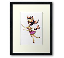 Fancy Giraffe Framed Print