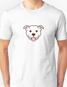 Staffy Smile – White Unisex T-Shirt