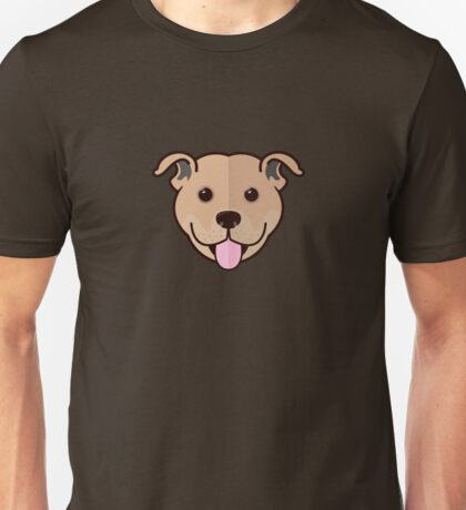Staffy Smile – Fawn Unisex T-Shirt
