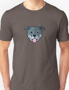 Staffy Smile – Blue Unisex T-Shirt