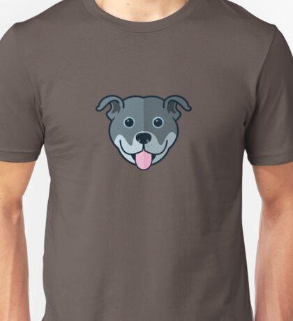 Staffy Smile – Blue Unisex T-Shirt
