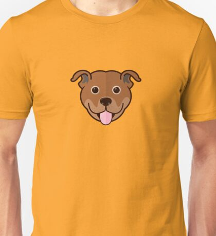 Staffy Smile – Red Unisex T-Shirt