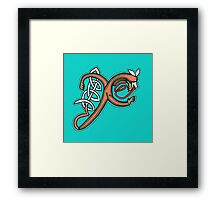 Celtic Fox letter X 2016 Framed Print