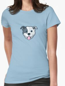 Staffy Smile –Patch 01 Womens Fitted T-Shirt