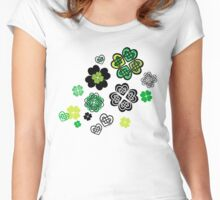 Celtic Love Knot Clovers Women's Fitted Scoop T-Shirt