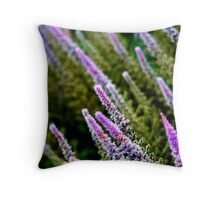 Dipped Purple Throw Pillow