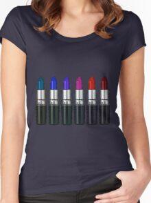 MAC lipstick Women's Fitted Scoop T-Shirt