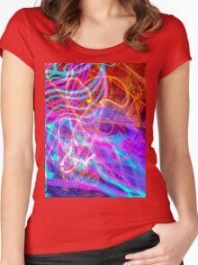 Psychedelic Exposure LED Hoop Women's Fitted Scoop T-Shirt
