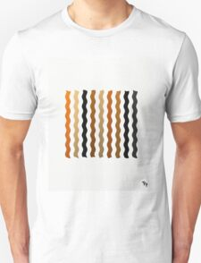 Metallic Waves Abstract Unisex T-Shirt