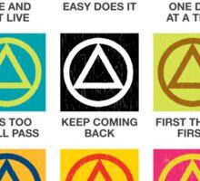 Twelve Step Slogans Sticker