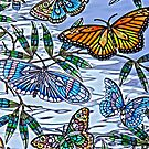Stained Glass Butterflies by Katagram