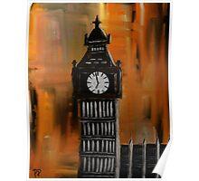 Big Ben Rustic Abstract Poster