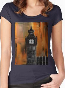 Big Ben Rustic Abstract Women's Fitted Scoop T-Shirt