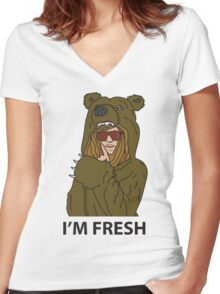 Workaholics - Blake's Bearcoat Women's Fitted V-Neck T-Shirt