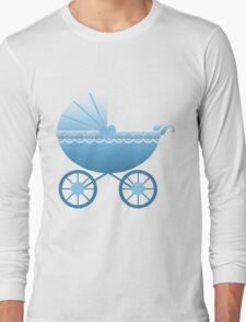 Blue Baby Carriage Long Sleeve T-Shirt