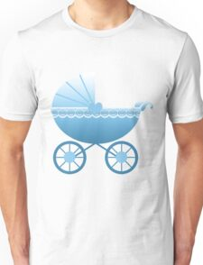 Blue Baby Carriage Unisex T-Shirt