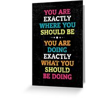 Words of Inspiration Greeting Card