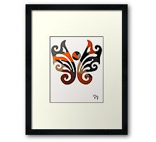 Butterfly Metallic Abstract Framed Print