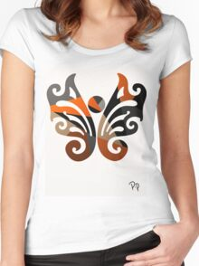 Butterfly Metallic Abstract Women's Fitted Scoop T-Shirt
