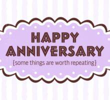 Happy Anniversary Sticker