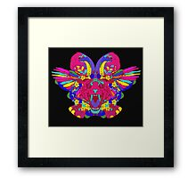 Psychedelic animal mashup Framed Print