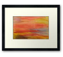 pastel scape Framed Print
