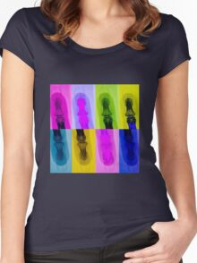 ODE TO WARHOL - FINGER Women's Fitted Scoop T-Shirt