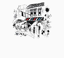 Pen and ink impresion of old French cafe with awning Unisex T-Shirt