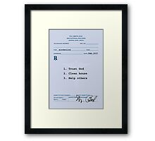Dr. Bob's Prescription Framed Print