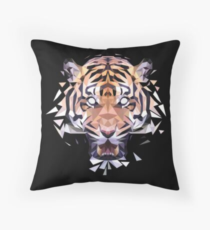 Geotiger Throw Pillow