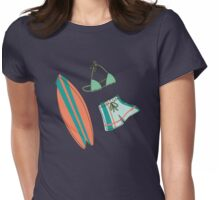 Retro Surf Party Womens Fitted T-Shirt