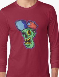 Skater Trucker Zombie Guy Long Sleeve T-Shirt