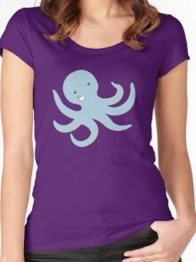 Silly Octopus Undersea Party Women's Fitted Scoop T-Shirt
