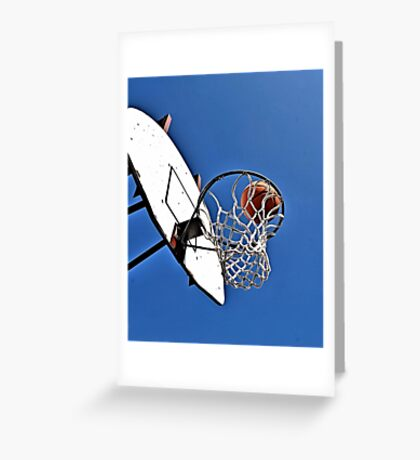 Shooting Hoops Greeting Card