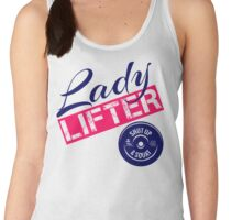 Red, White & Blue Lady Lifter Women's Tank Top