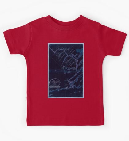 American Revolutionary War Era Maps 1750-1786 609 Map of the River St John in the Province of Nova Scotia exhibiting the grant to officers &c in 1765 with Inverted Kids Tee