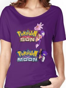 PokeWah Sun and Moon Women's Relaxed Fit T-Shirt