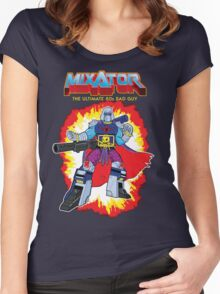 MIXATOR, The Ultimate 80s Bad Guy! Women's Fitted Scoop T-Shirt