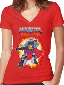 MIXATOR, The Ultimate 80s Bad Guy! Women's Fitted V-Neck T-Shirt