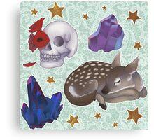 Crystal Skull Pattern Canvas Print