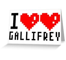 I heart heart gallifrey Greeting Card